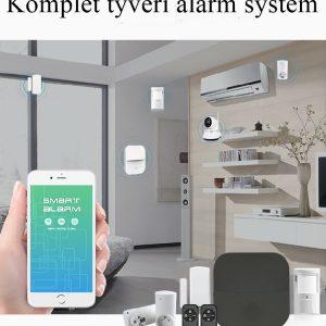 Alarm kit med sirene og kamera